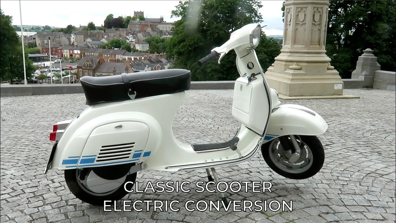 Classic Vespa Scooter Electric Conversion