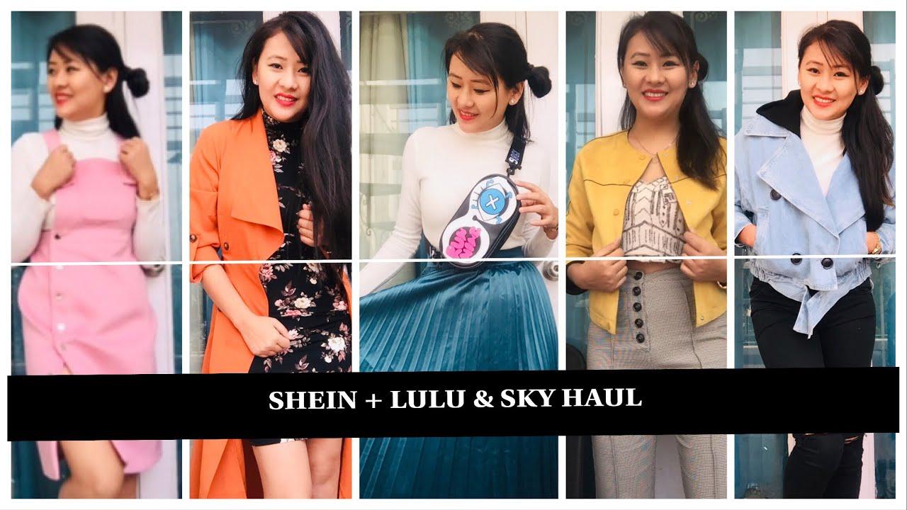 f332722dac || SHEIN + LULU & SKY HAUL || try on haul video by Lilibila sangtam