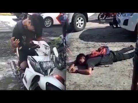 Melakukan Pelanggaran, Seorang Pria Pura-pura Kesurupan Saat Ditilang Polisi