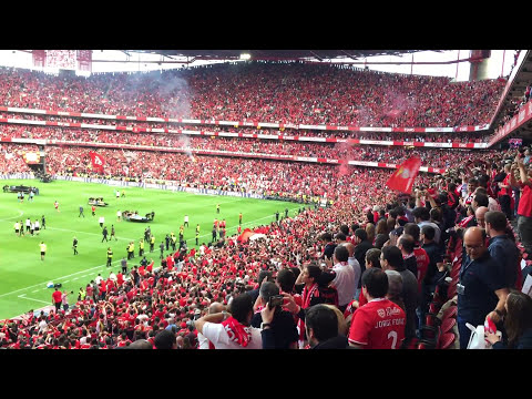 Festa do tetra no Estádio do Sport Lisboa e Benfica