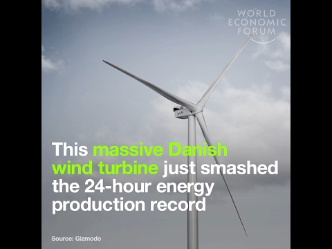 This massive Danish wind turbine just smashed the 24 hour energy production record
