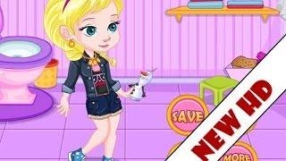 Baby Elsa's Potty Train Game - Disney Frozen Elsa toilet training session game