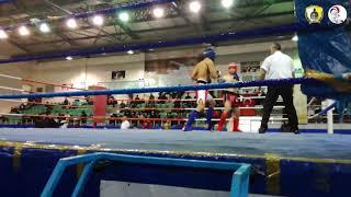 10 saniyede nakavt / İstanbul Kick Boks Şampiyonası / 71 kg / Batuhan Seyran / Low kick / Mavi köşe