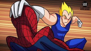 dragon ball z vs marvel superheroes what if battle dbz parody