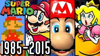 Super Mario ALL INTROS 1985-2015 (Wii U, 3DS, N64, SNES)