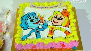Торт ФИКСИКИ Украшение торта белковым кремом Кремовые Торты для детей