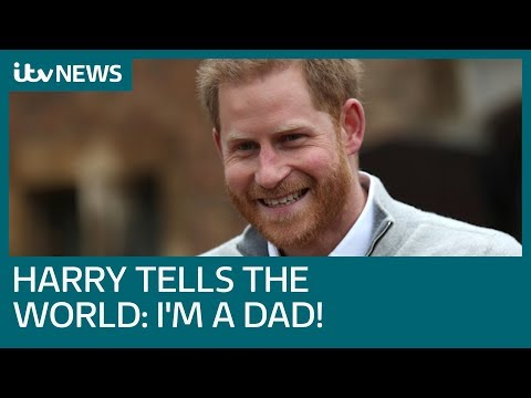 Prince Harry beams as he delivers baby news | ITV News