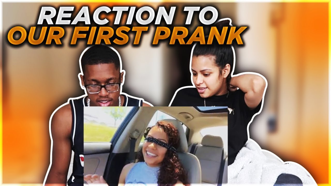 REACTING TO OUR FIRST PRANK !!