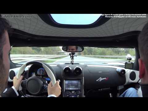 [60fps] Koenigsegg Agera R owner HAMMERS it on German UNRESTRICTED Autobahn meet Porsche  918 Spyder
