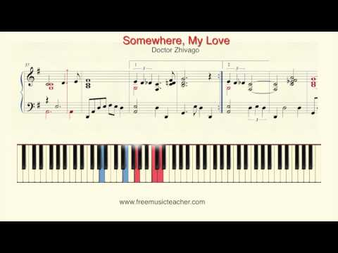 "How To Play Piano: Doctor Zhivago ""Somewhere, My Love"" Piano Tutorial by Ramin Yousefi"