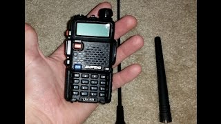 Baofeng UV-5R First Contact(In this video i was hitting a repeater about 22 miles away. I was transmitting at ~5W, however i can still hit it on low power ~1W. I've been getting good signal ..., 2015-03-02T23:05:00.000Z)