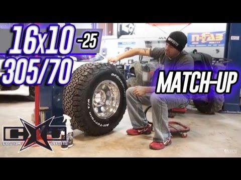 Custom Offsets Match Up: 305/70 on 16x10