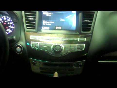 JX35  QX60  Infiniti Audio / Radio Search for XM or SXM satellite Radio settings.