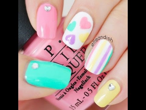 Uñas Decoradas Faciles Bonitas Y Modernas Youtube