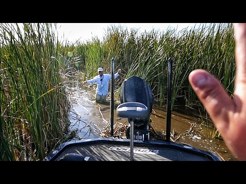 Getting Stuck in the Swamp with Pops - Secret Bass Fishing Hole (feat. Roland Martin)
