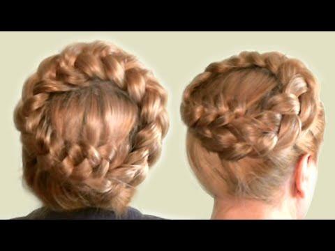 Прическа с Плетением  Объемная Коса Вокруг Головы на Длинные Волосы  Видео  Hairstyle With Braided.