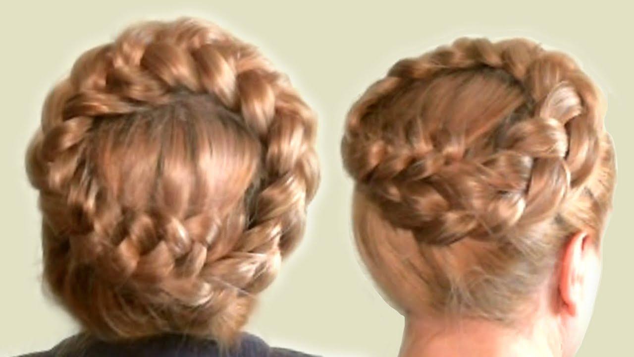 плетение волос в виде ободка схема