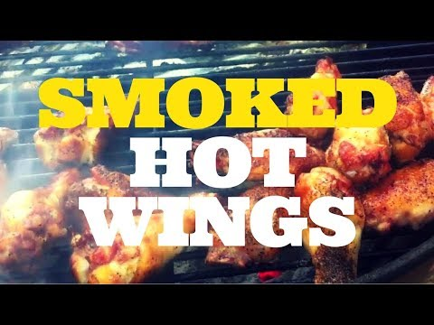 Smoked Hot Wings on the Weber Kettle Grill with the Slow 'N Sear