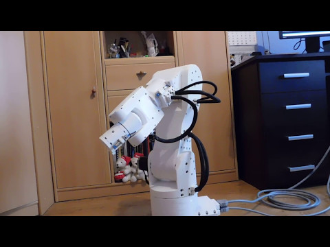 3D printed 6 axis robot on stepper motors