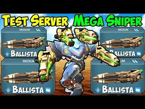 War Robots Test Server [4.0] Ballista Spectre Sniper Gameplay - WR FFA