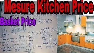 How to measure modular kitchen price | measuring kitchen price