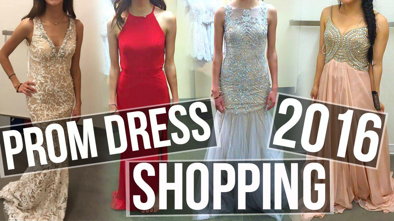 Prom Dress Shopping! 2016 - YouTube
