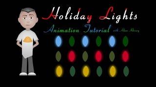 Holiday Christmas Lights Animation Tutorial CSS JavaScript