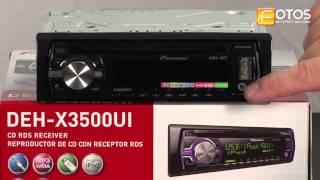 Распаковка Pioneer DEH-X3500UI