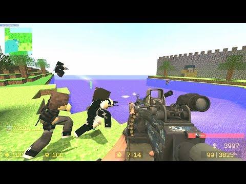 CSS: Zombie Escape Mod - Ze_Minecraft_Adventure_v1_2c (Level 1) On Net4ALL