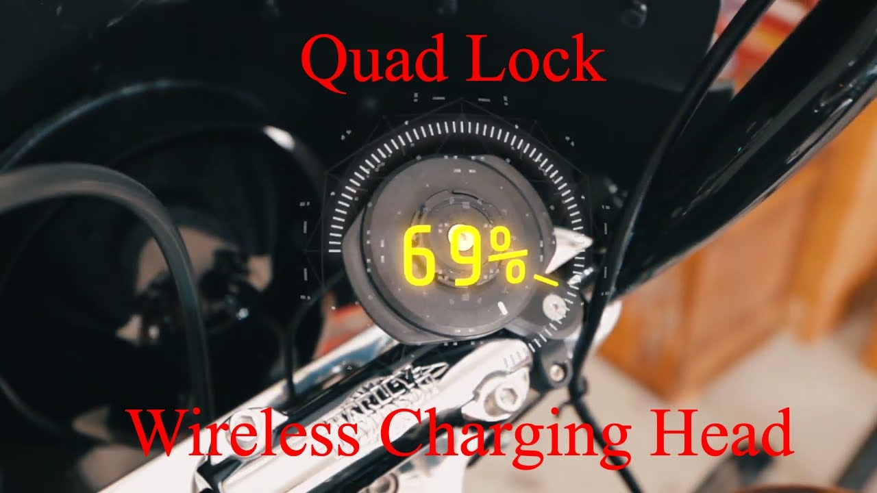 QuadLock Motorcycle Wireless Charging Head - Install & Review