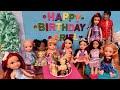 Ariel's Birthday ! Elsa & Anna toddlers celebrate - gifts - cake - sing - pinata - princesses
