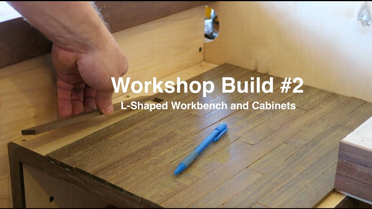 Workshop Build #2 - L Shaped Workbench and Cabinets - YouTube on l shaped greenhouse, l shaped basement, l shaped bathroom, l shaped home, l shaped bar, l shaped office, l shaped shed, l shaped hardwood floors, l shaped carport, l shaped patio, l shaped garage, l shaped garden, l shaped fireplace, l shaped cabinet, l shaped tools,