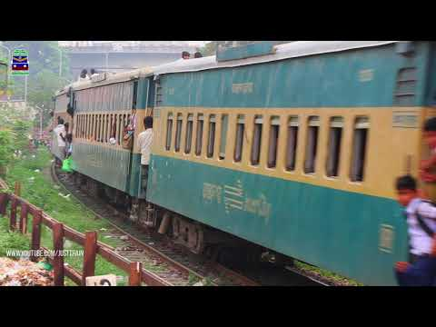Kalni Express Dhaka to Sylhet passing through Kaligoan Rail Gate | Bangladesh Railway