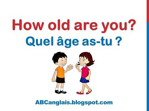 Cours d'anglais 11 - QUEL ÂGE AS-TU en anglais Dialogue Conversation facile Se présenter en anglais