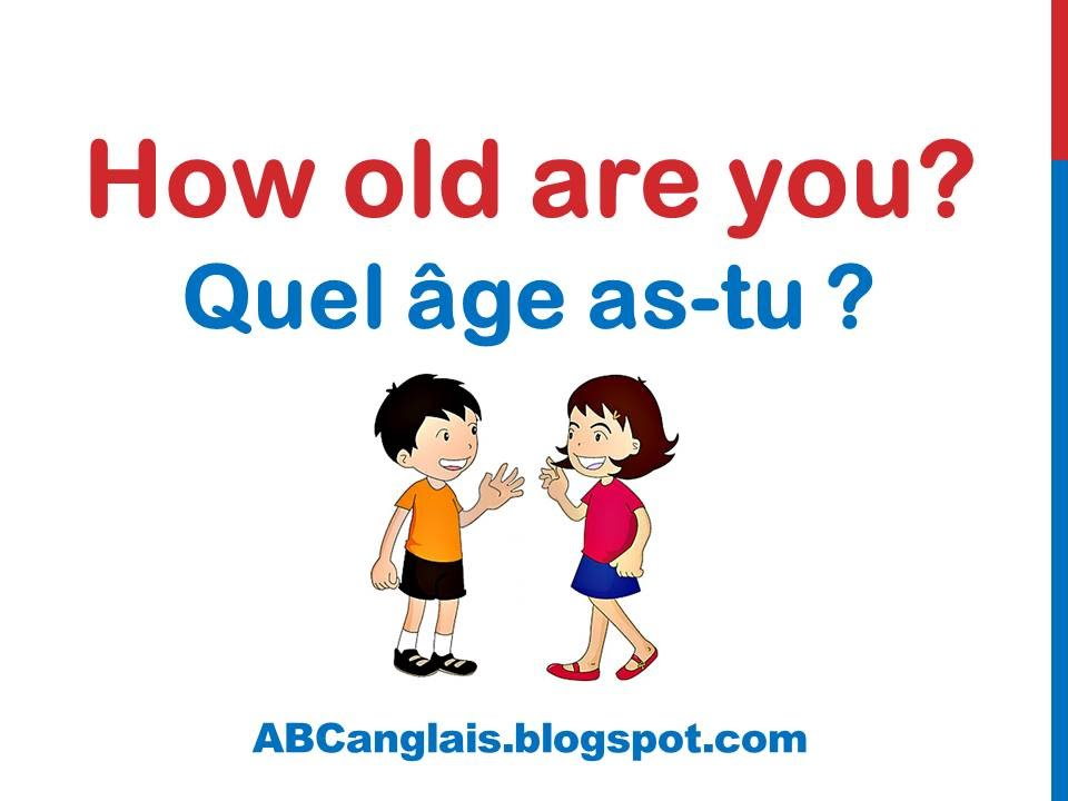 cours d anglais 11 quel 194 ge as tu en anglais dialogue conversation facile se pr 233 senter en