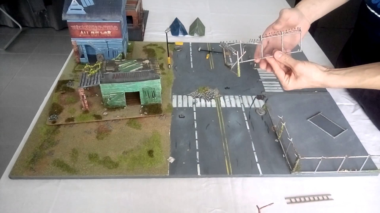 the walking dead all out war table de jeux board game youtube. Black Bedroom Furniture Sets. Home Design Ideas