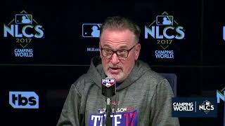 Joe Maddon Postgame Interview | Cubs vs Dodgers Game 1 NLCS