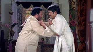 Nagarjuna and Sanghavi Romantic Scene    Sitaramaraju Movie    Harikrishna,Nagarjuna