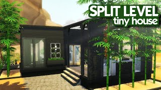 SPLIT LEVEL MODERN TINY HOUSE || The Sims 4: Speed Build