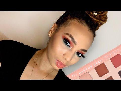 Peach Eyeshadow Tutorial | Makeup Geek | Summer Giveaway 2019 | LaToya Kendall | Closed thumbnail