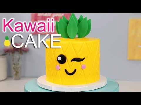 Easiest Kawaii Pineapple Cake Youtube