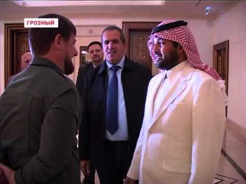 HRH Prince Abdulaziz bin Turki bin Talal Al Saud greeted by President of Chechnya Ramzan Kadyrov