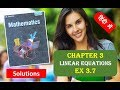 RD SHARMA Solutions Class 10 Maths Chapter 3 Linear Equations Ex 3.7 हिंदी 1