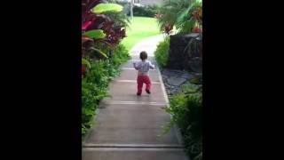 One year old baby walking like a pro :)