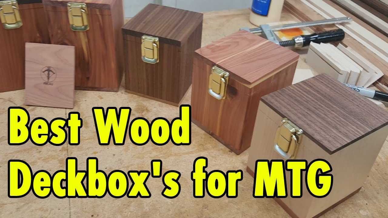 Best Wood Deckbox For Magic The Gathering And Tcc Games Xbeau Gaming