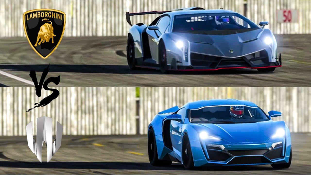 Lamborghini veneno vs w motors lykan hypersport top gear for K and w motors