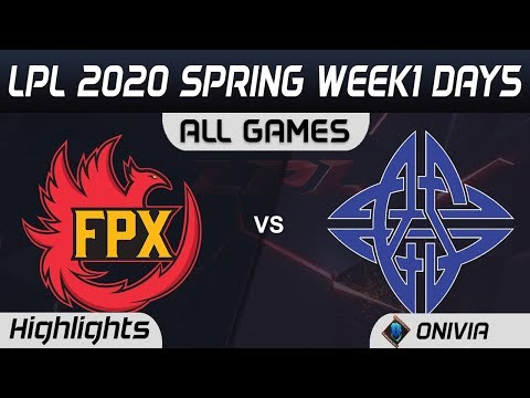 FPX Vs ES ALL GAMES Highlights LPL Spring 2020 W1D5 FunPlus Phoenix Vs EStar LPL Highlights 2020 By