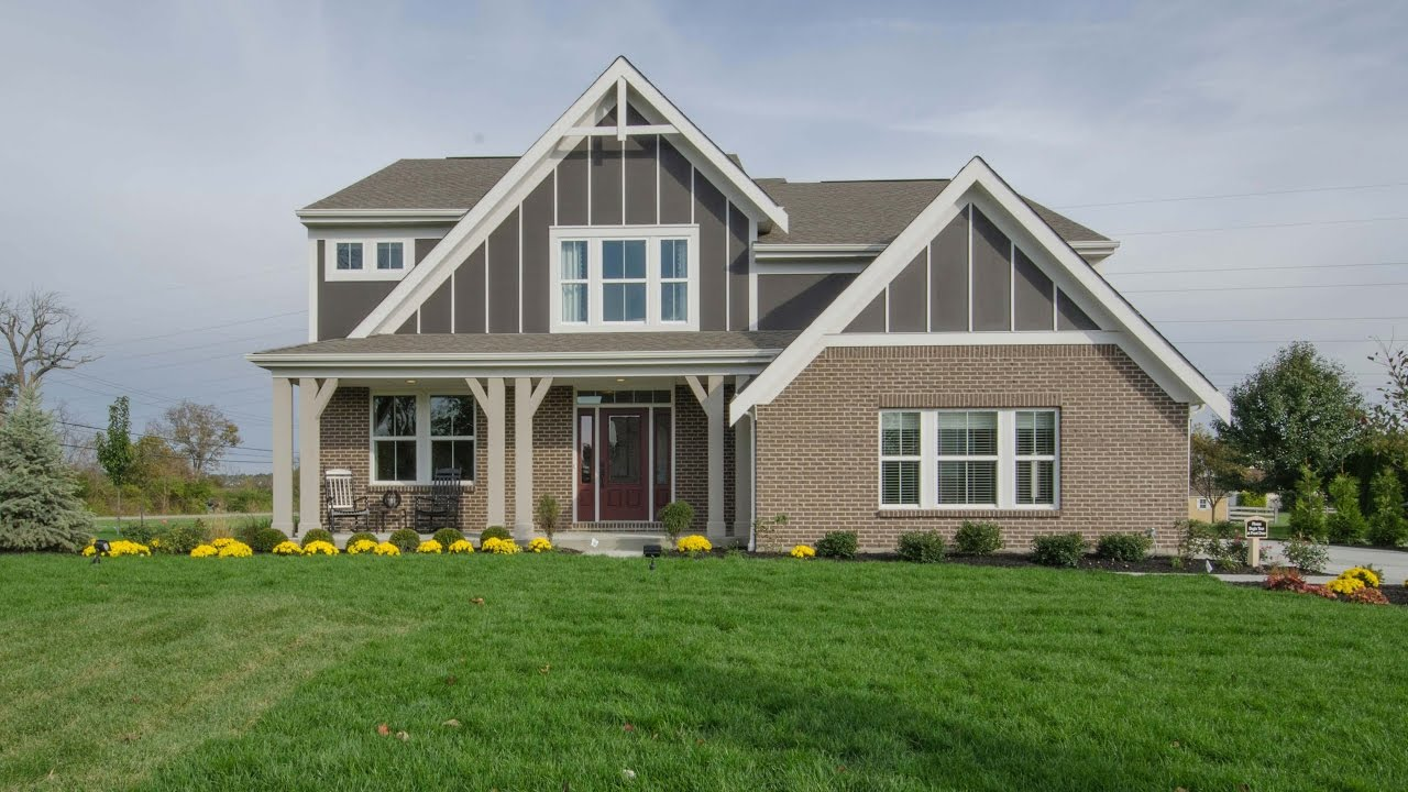 The Blair Floorplan By Fischer Homes Model Home In Bridle Farm Youtube