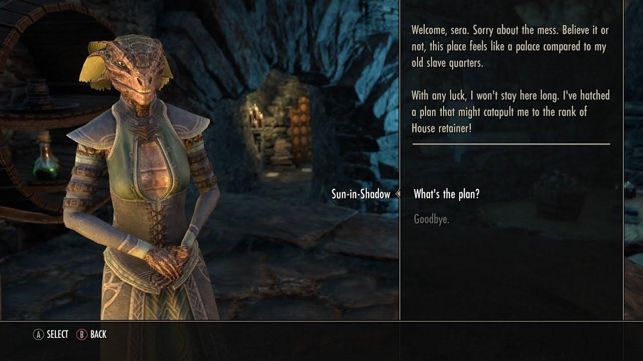 Elder Scrolls Online Ambitious Argonian Slave 1 3 Youtube