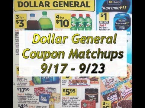 Dollar General Coupon Matchups 9/17-9/23  Great Instant and Gain Deals